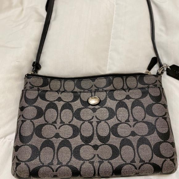 Coach Handbags - Coach Peyton black monogram crossbody bag